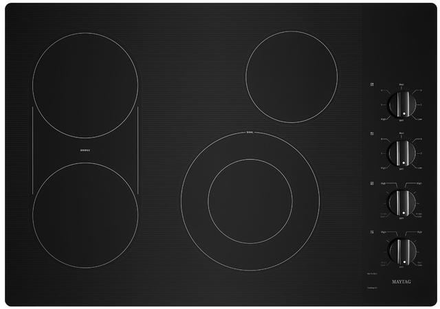 "Maytag® 30"" Black Electric Cooktop-MEC8830HB"