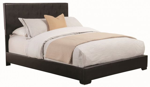 Coaster® Conner Dark Brown California King Upholstered Bed-300261KW