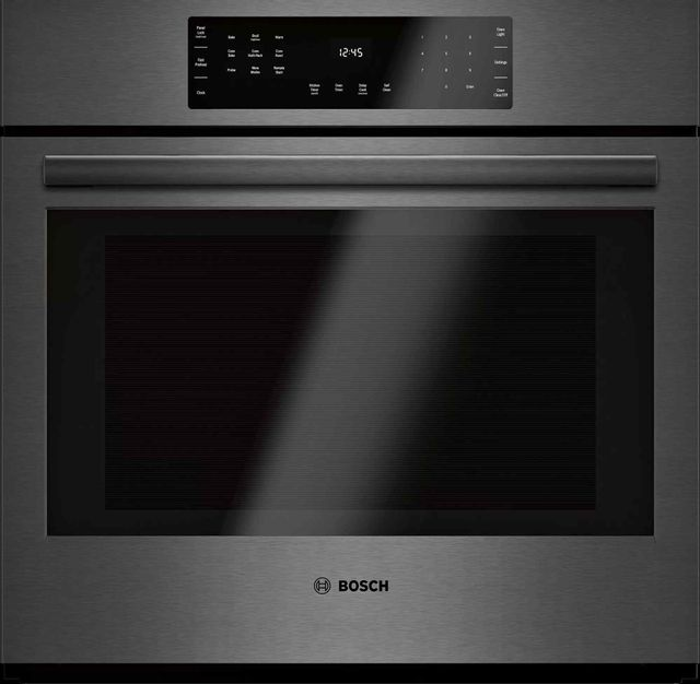 """Bosch 800 Series 29.75"""" Black Stainless Steel Electric Single Oven Built In-HBL8443UC"""
