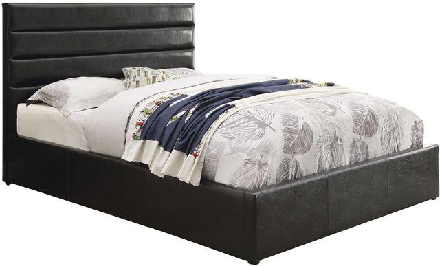 Coaster® Riverbend Black Queen Black Upholstered Storage Bed-300469Q