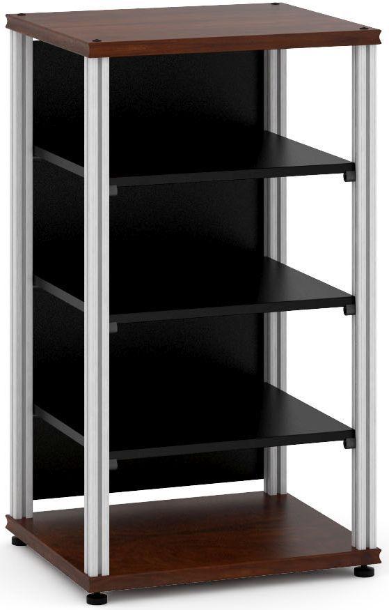 Salamander Designs® Synergy Single 40 AV Cabinet-Dark Walnut/Aluminum-SU40W/A