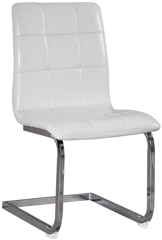 Signature Design by Ashley® Madanere White/Chrome Dining Upholstered Side Chair-D275-02