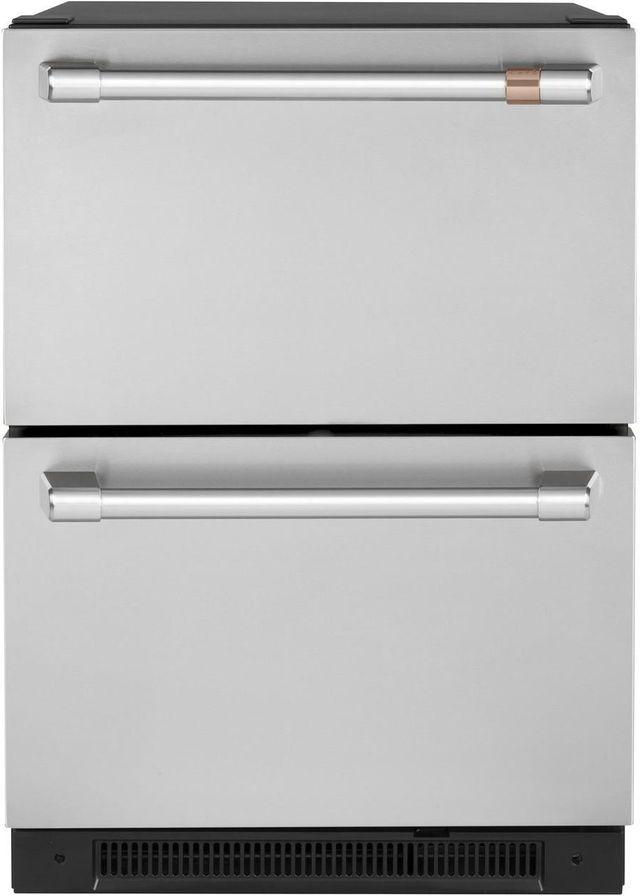 Réfrigérateur sous le comptoir de 24 po Cafe™ de 5,7 pi³ - Acier inoxydable-CDE06RP2NS1