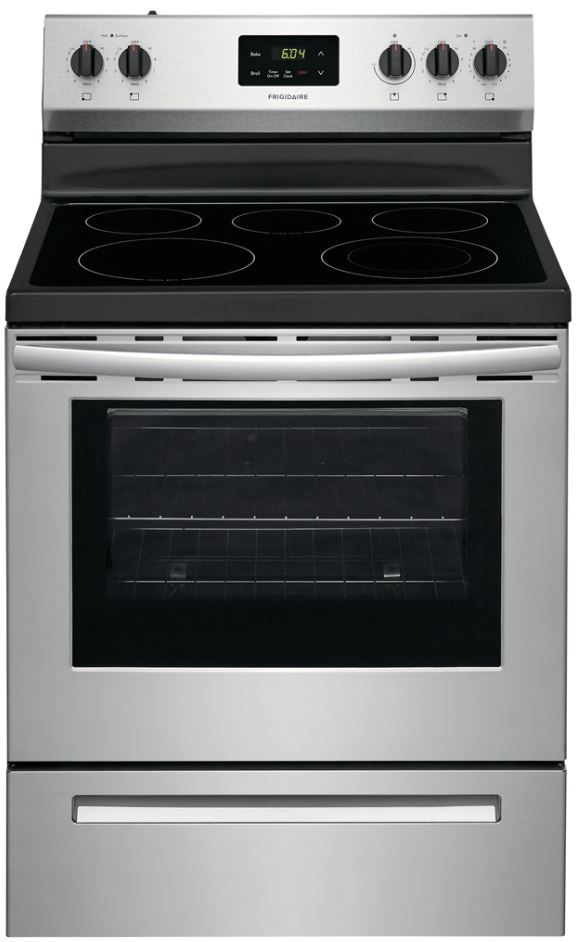 """Frigidaire® 30"""" Stainless Steel Free Standing Electric Range-FCRE3052AS"""