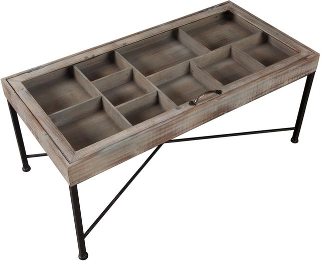 Signature Design by Ashley® Shellmond Coffee Table with Display Case-A4000208