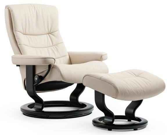 Stressless® by Ekornes® Nordic Medium Classic Base Chair and Ottoman-1283015
