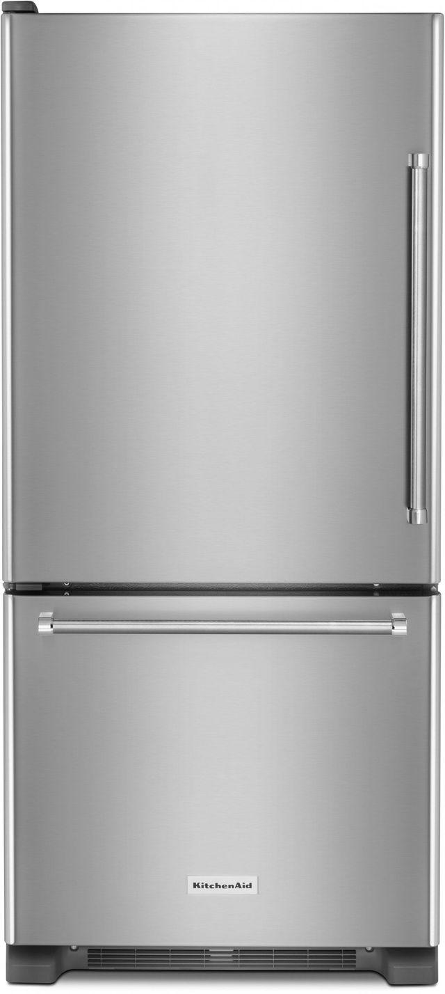 KitchenAid® 18.67 Cu. Ft. Stainless Steel Bottom Freezer Refrigerator-KRBL109ESS