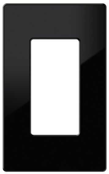 Crestron® Decorator Style 1-Gang Faceplate-Black Smooth-FP-G1-B-S