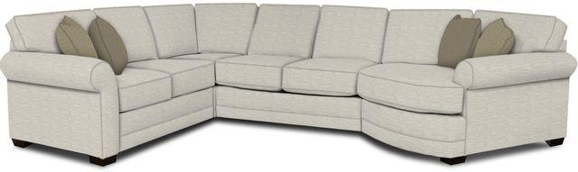England Furniture Co. Brantley 4 Piece Culpepper Snow/Alvarado Mineral/Harmon Charcoal Sectional-5630-28-22-43-95+8613+8629+8601