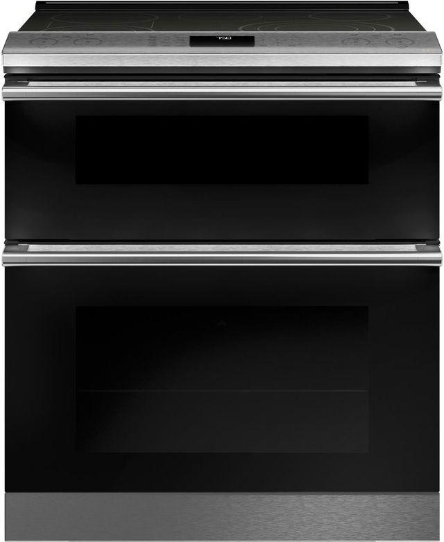 """Café™ 30"""" Platinum Slide-In Electric Double Oven Range-CES750M2NS5"""