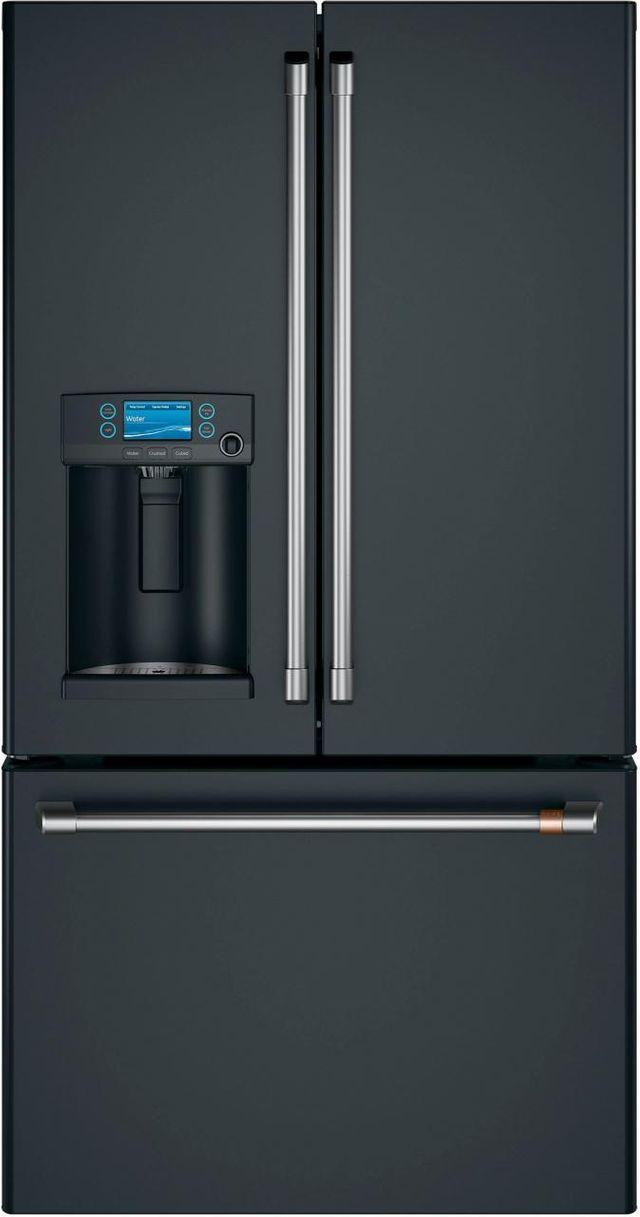 Café™ 22.2 Cu. Ft. Matte Black Counter Depth French Door Refrigerator-CYE22TP3MD1