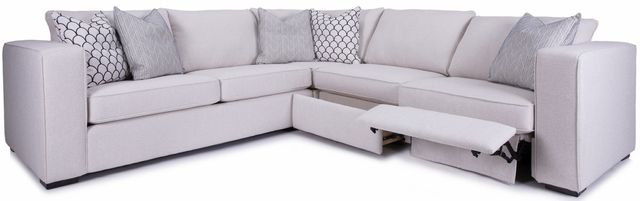 Sectionnel motorisé 3 morceaux motorisé 2900 en tissu blanc Decor-Rest®-2900-2903+2901+M2902P