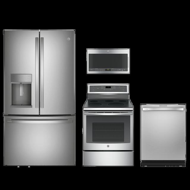 GE Profile™ 4 Piece Stainless Steel Kitchen Package-GEPRKITPB911SJSS