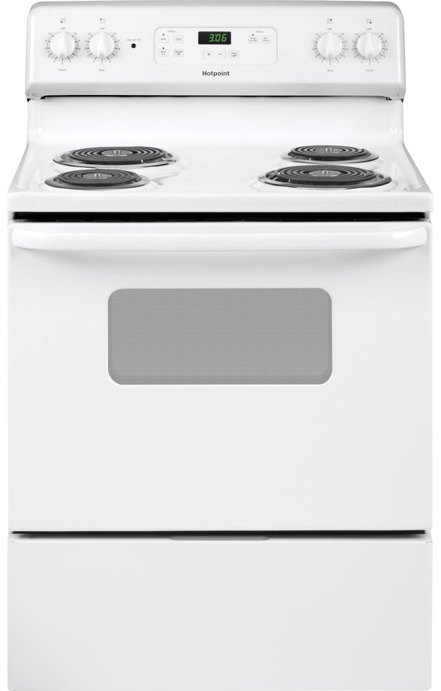 """Hotpoint® 30"""" White Free Standing Electric Range-RBS360DMWW"""