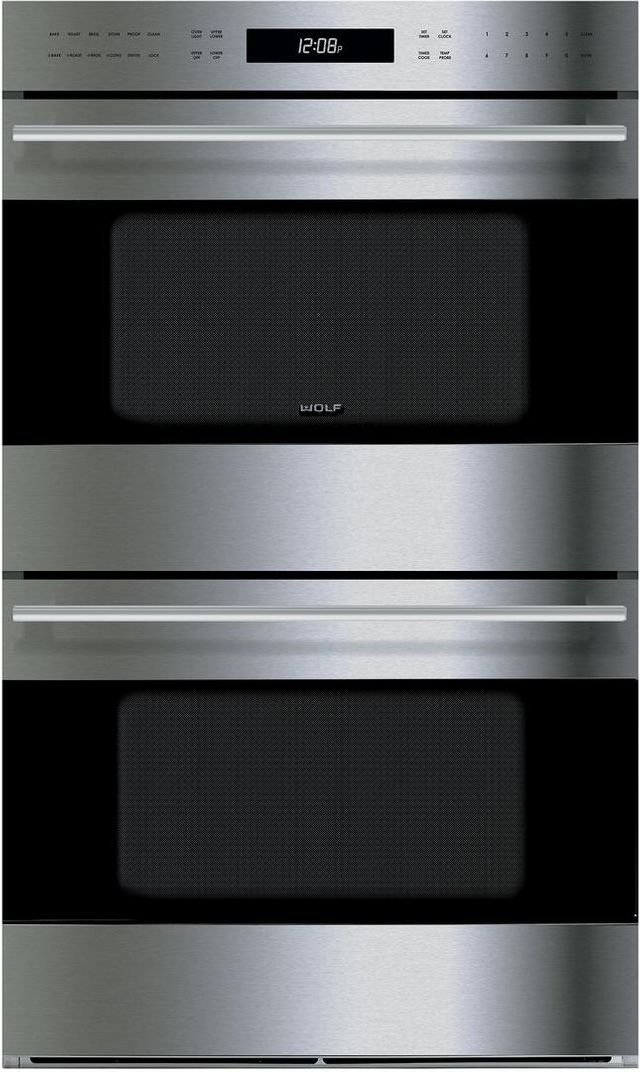 """Wolf® E Series 30"""" Electric Double Oven Built In-Stainless Steel-DO30TE/S/TH"""