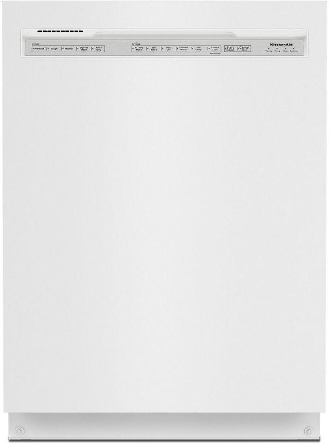 "KitchenAid® 24"" White Built In Dishwasher-KDFE104KWH"