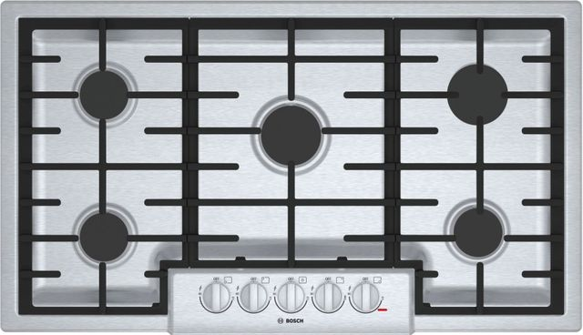 """Bosch 800 Series 36"""" Gas Cooktop-Stainless Steel-NGM8656UC"""