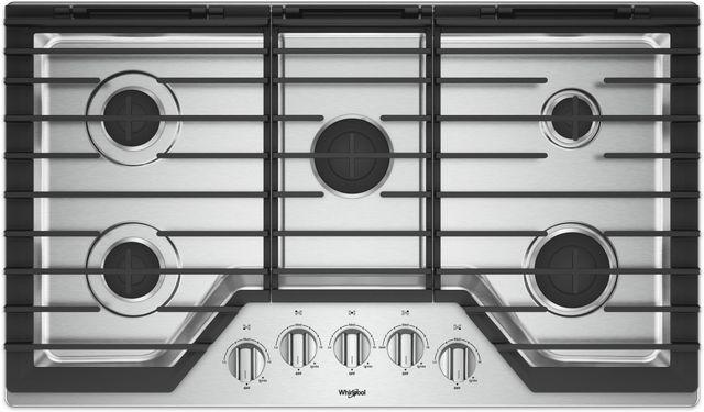 "Whirlpool® 36"" Gas Cooktop-Stainless Steel-WCG55US6HS"