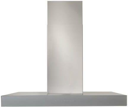 "Best® Ispira 30"" Stainless Steel Brushed Grey Glass Chimney Range Hood-WCB3I30SBS"