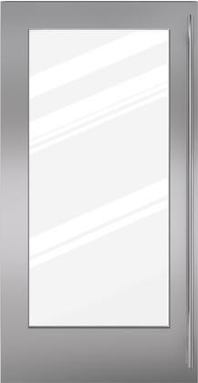 "Sub-Zero® Classic 36"" Stainless Steel Dual Flush Inset Door Panel with Tubular Handle-7030228"
