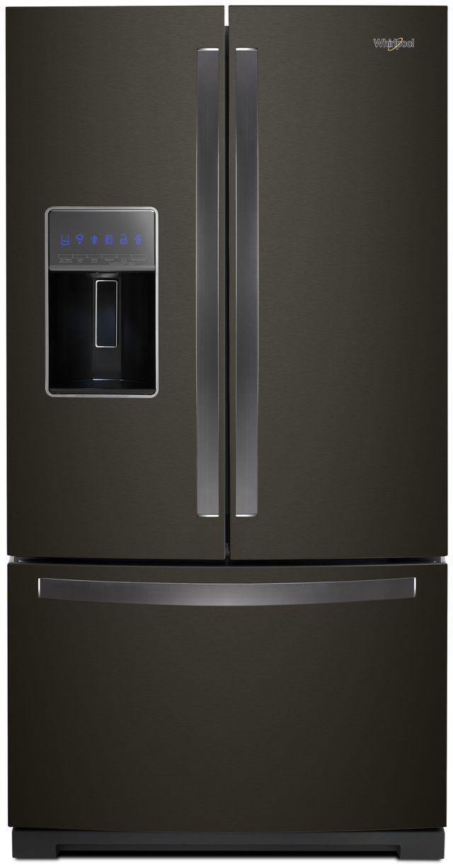 Whirlpool® 26.80 Cu. Ft. French Door Refrigerator-Black Stainless Steel-WRF767SDHV
