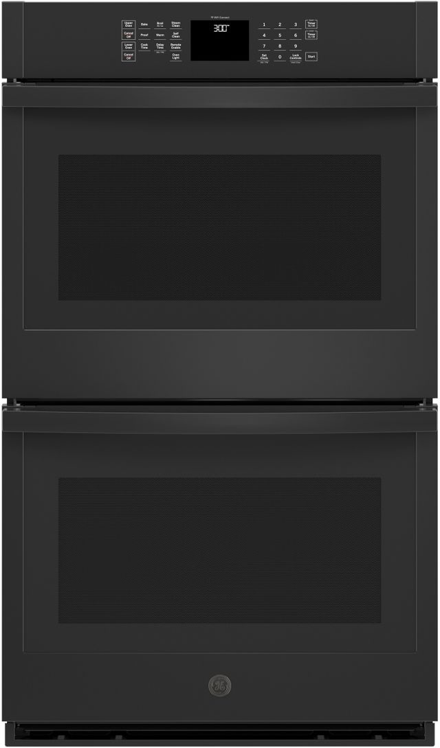 """GE® 30"""" Black Electric Double Oven Built In-JTD3000DNBB"""