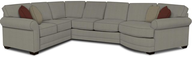 England Furniture Co. Brantley 4 Piece Culpepper Cement/Alvarado Mineral/Werebear Khaki Sectional-5630-28-22-43-95+8612+8316+8601