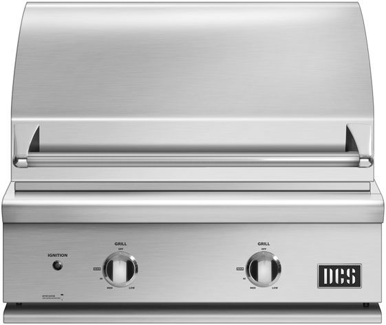 """DCS Series 7 30"""" Brushed  Stainless Steel Built In Grill-BGC30-BQ-L"""