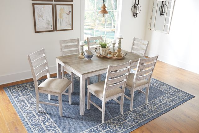 Signature Design by Ashley® Skempton 7-Pc. Dining Room Table Set-D394-425