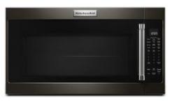 Four à micro-ondes à hotte intégrée de 30 po KitchenAid® de 2,0 pi³ - Acier inoxydable noir-YKMHS120EBS