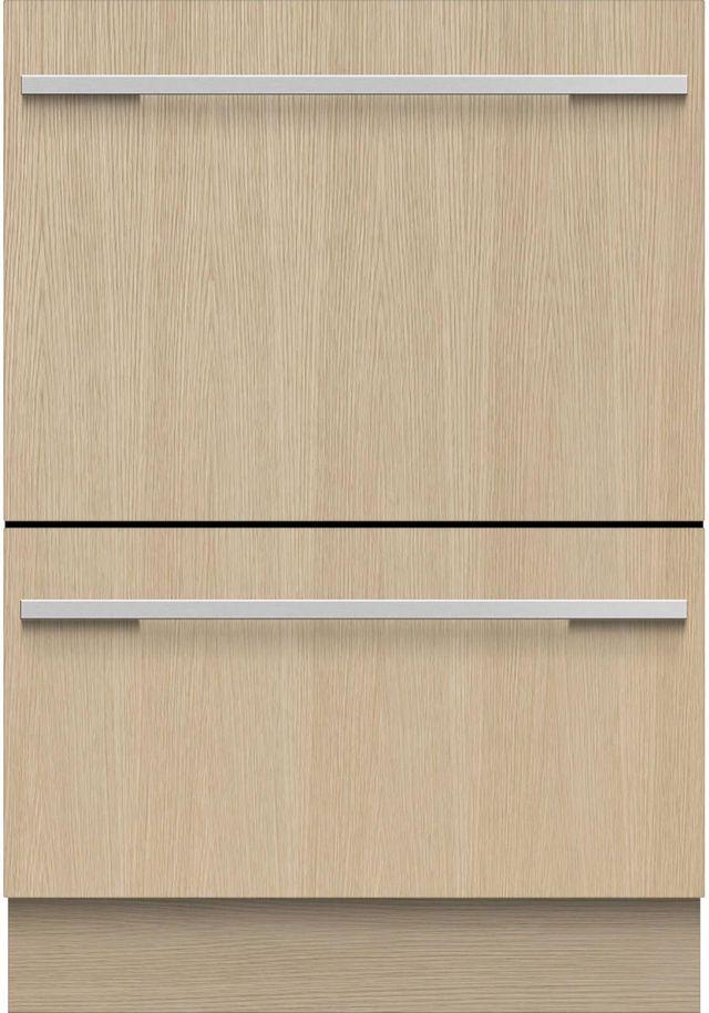 "Fisher & Paykel Series 9 24"" Panel Ready Double DishDrawer™ Dishwasher-DD24DHTI9 N"