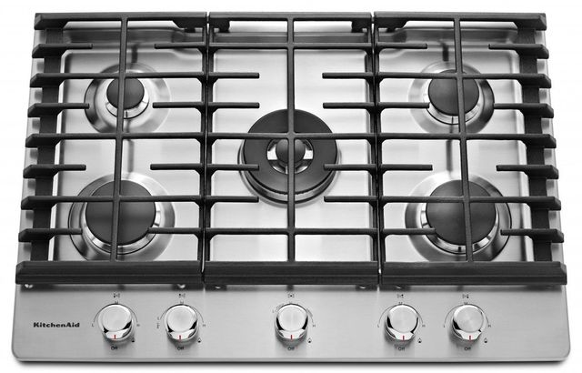 KitchenAid® 30'' Stainless Steel Gas Cooktop-KCGS550ESS