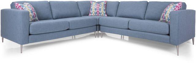 Sectionnel 3 morceaux 2795, bleu, Decor-Rest®-2795-07-05-06 SEC BLUE