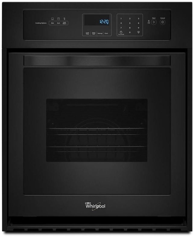 """Whirlpool® 24"""" Electric Built In Oven-Black-WOS11EM4EB"""