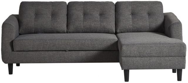 Canapé-lit avec chaise longue Belagio en tissu gris Moe's Home Collections®-MT-1019-07-R