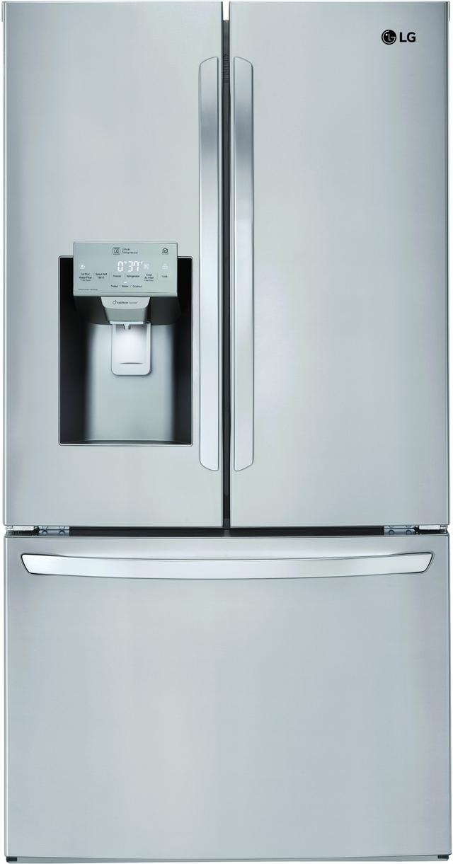 Réfrigérateur à portes françaises de 36 po LG® de 27,9 pi³ - Acier inoxydable-LFXS28968S