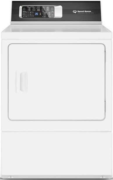Speed Queen® DR7 7.0 Cu. Ft. White Front Load Gas Dryer-DR7003WG