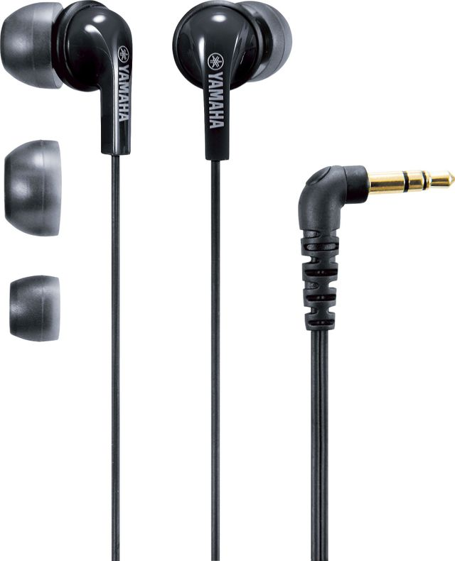 Yamaha® Black In-Ear Headphones-EPH-20BL