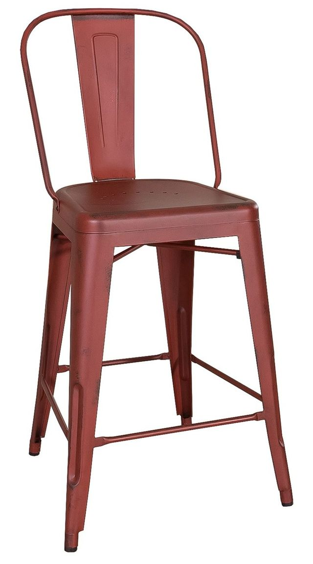 Liberty Vintage Dining Red Bow Back Counter Chair-179-B350524-R