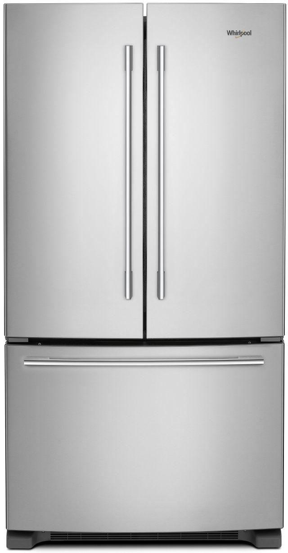 Whirlpool® 25.19 Cu. Ft. French Door Refrigerator-Fingerprint Resistant Stainless Steel-WRFA35SWHZ