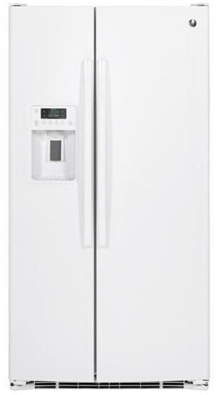 GE® 25.4 Cu. Ft. White Side-By-Side Refrigerator-GSE25GGHWW