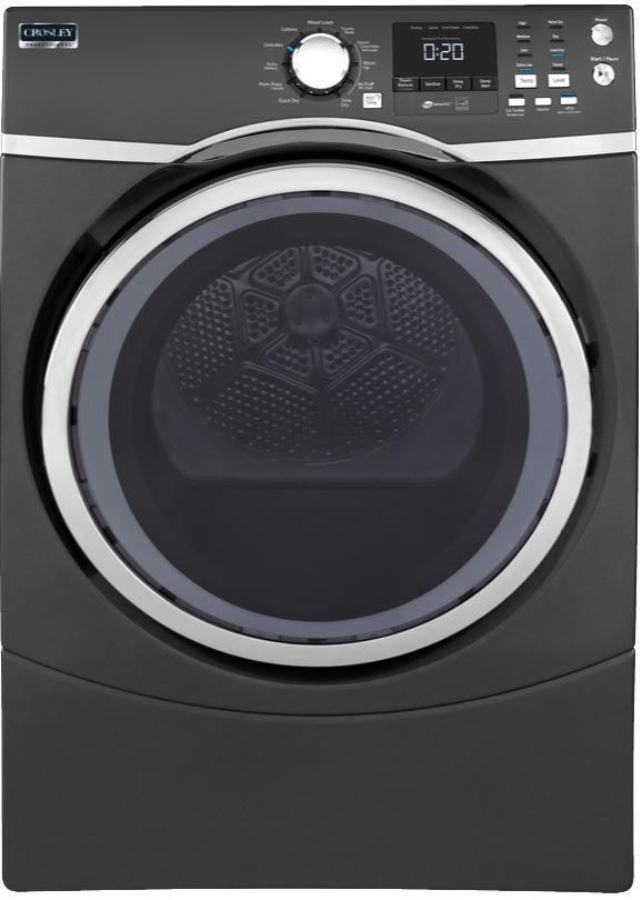 Crosley® 7.5 Cu. Ft. Diamond Gray Front Load Electric Dryer-YFD45ESPMDG
