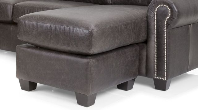 Decor-Rest® Furniture LTD 3A-25 Gray Leather Floating Ottoman with Chaise Seat Cushion-3A-25-OTTOMAN
