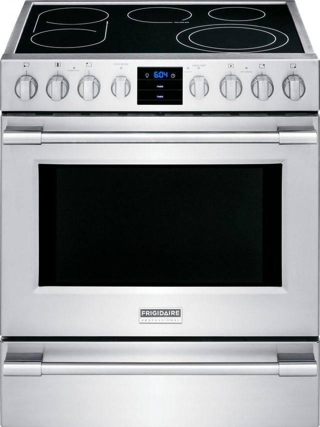 """Frigidaire Professional® 30"""" Stainless Steel Free Standing Electric Range-FPEH3077RF"""