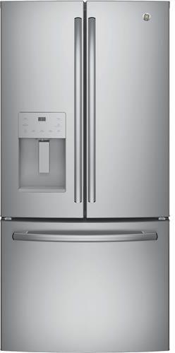 GE® Series 23.8 Cu. Ft. French Door Refrigerator-Stainless Steel-GFE24JSKSS