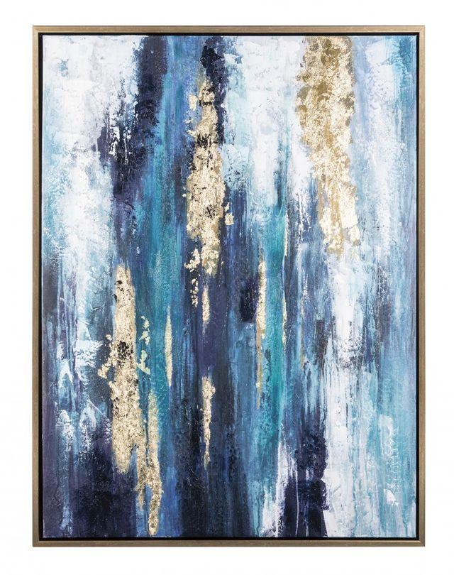 Signature Design by Ashley® Dinorah Teal Blue Wall Art-A8000218
