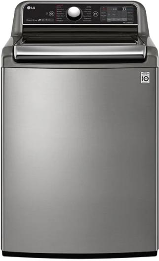 Laveuse à chargement vertical LG® de 6,0 pi³ - Acier inoxydable graphite-WT7850HVA