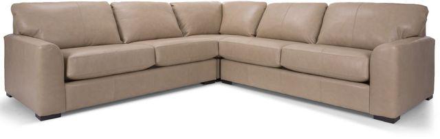 Decor-Rest® Furniture LTD 3786 3-Piece Beige Leather Sectional Sofa-3786-BEIGE-07+05+06