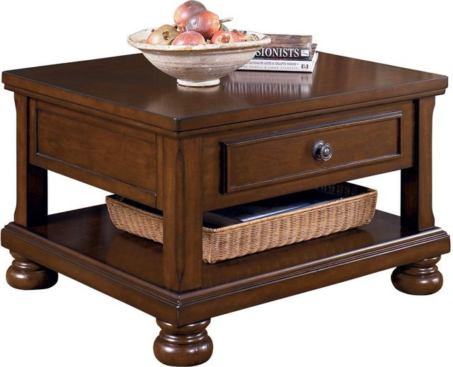 Signature Design by Ashley® Porter Rustic Brown Lift Top Cocktail Table-T697-0