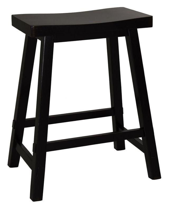 "Liberty Furniture Creations II 24"" Sawhorse Black Barstool-48-B1824"
